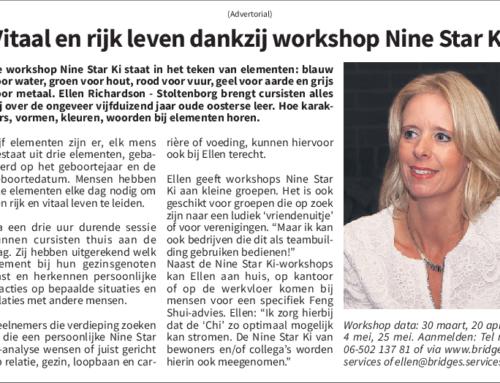 Rijk en vitaal leven dankzij workshop Nine Star Ki